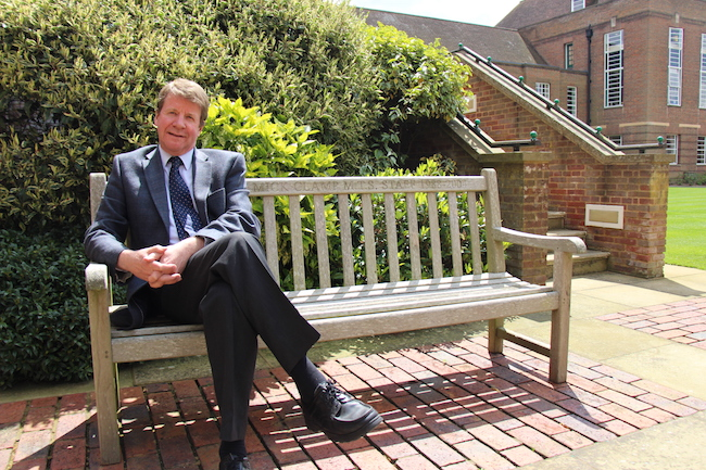 Martin Drury, photographed in the Inner Quad
